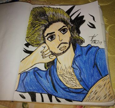 George Michael Drawing #2 (finished) by CutemayStrikesAgain