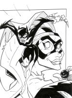 Bat Girl and Harley by Sanchez by Crausse