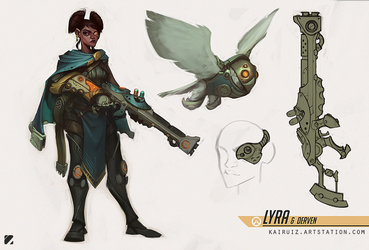 Lyra and Derven - Fan Overwatch Character Concept by kairuiz