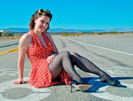 Polka Dot Route 66 Pin-up by Phillyjem