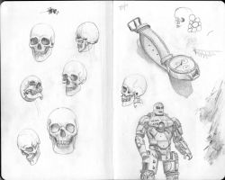 Skulls and Iron Man by JRSly