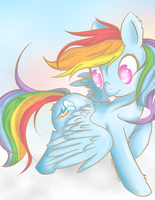 Rainbow Dash by LilMissWaffles
