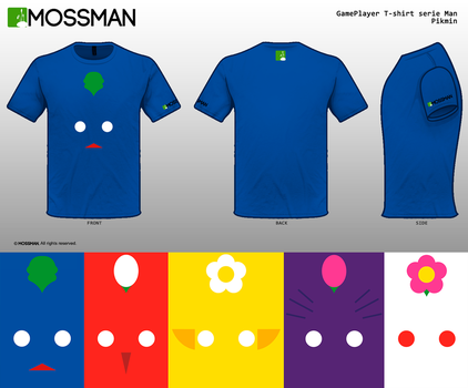 Characters T-shirt serie Man - Pikmin by Mrmossman