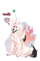 Amaterasu's Favorite Snack by ecto-wolf