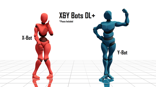 [MMD] X And Y Bots DL+ (+Poses Included) by Haztract