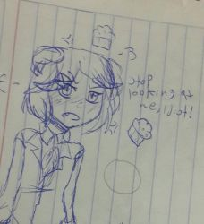 Natsuki,the deceivingly cute girl by luzthekiller34