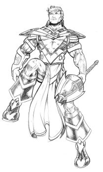 Victor Champion Triumphant WIP by Cadre