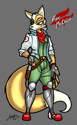 Fanart - Fox McCloud by grayscalerain