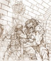 Brothers By Blood - Pencil by Inkthinker