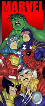 Marvel BOOKMARK COLORED 2010