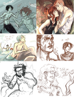 YYH sketchy drawings dump by nolawforthedamned