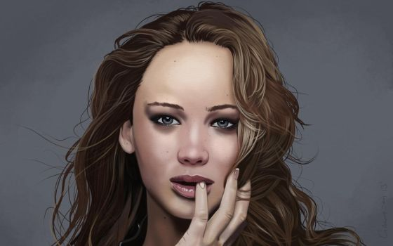 Jennifer Lawrence Portrait. by garrypfc