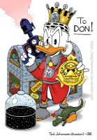 My first tribute drawing for Don Rosa by TedJohansson