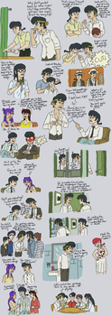 Ranma/Odd Couple Sketchdump (Part 2) by beedok