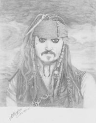 Johnny Depp as Captain Jack Sparrow by JBRoger