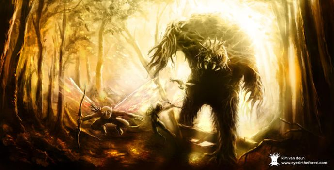 Forest monster by froebee