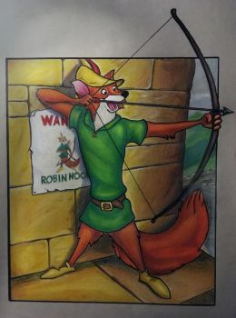 Disney's Robin Hood (Color Pencil) by AlphaWolf209x
