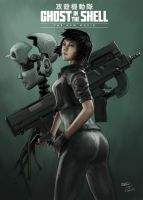 Ghost in the Shell fanart movie poster by brinjal