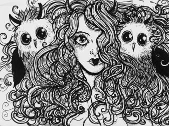 owl girl by peppinochus