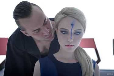 Detroit: Become Human cosplay (frame5) by Lyumos