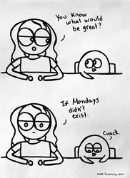 Mondays by luartandcomics