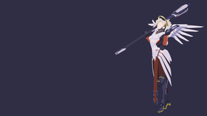 Mercy Minimalistic Wallpaper (1920x1080) by Sohka217
