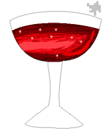 Pixel Wine Glass by fluffycatjeff