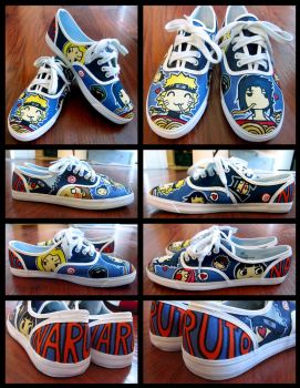 Gift :: Naruto shoes by imJEANNEus
