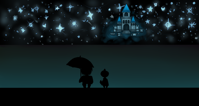 Frisk and Monster Kid - WallPaper by DiamondYagami