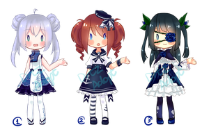 Adoptable Auction : Blue Girls [CLOSED] by ZylenXia