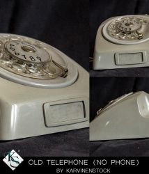 Old Telephone (No Phone) by KarvinenStock