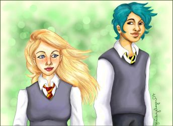 HP + Teddy and Victoire by quirkypaynesgrey