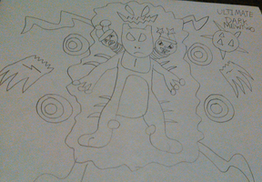 Ultimate Dark Mewtwo (Uncolored) by TwistedDarkJustin