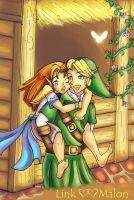 Link and Malon - Contest Entry by CrystallineEssence