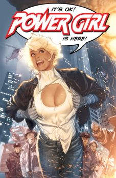 Power Girl Cover by AdamHughes