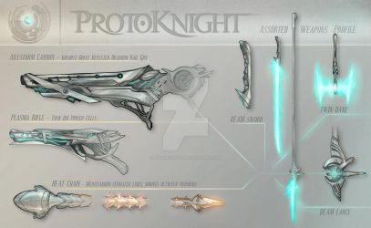 Concept - Protoknight, Main Weapons by AenTheArtist