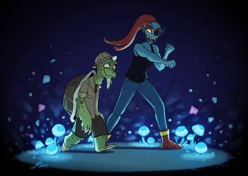 Gerson and Undyne by TheScatterbrain