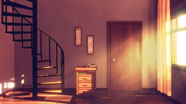 Anime Style Background - Spiral Staircase by Luther2s