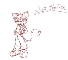 Jack Bluefree.:Full Sketch:. by SonicHearts