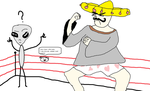 Mexican Standoff ''Gaylien vs Mexicano!'' by 87man