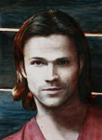 Sam Winchester (watercolor) by Quelchii