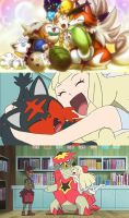 Lillie Touching and Hugging Every Pokemon
