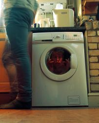 stuck in the washing machine by AnthonyRB1
