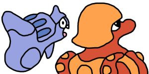 Remoraid And Octillery GS Beta Back Sprites by GEORDINHO