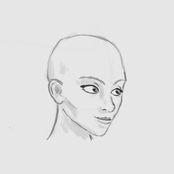 Drawing Practice - Face by RichardAHallett