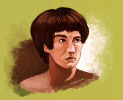 Bruce Lee by saxagenia