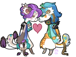 (CE) Lovebirds by Japanblossom