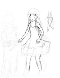 Girl in dress - unfinished by raptor-tk