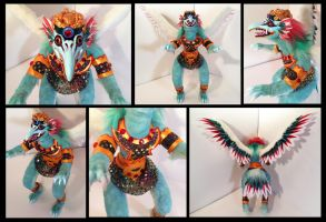 Garuda Poseable Art Doll by Blazesnbreezes