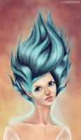 blue flames by LadaSeredina